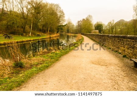 By the Cromford Canal, Peak District, Derbyshire, England, UK. #1141497875