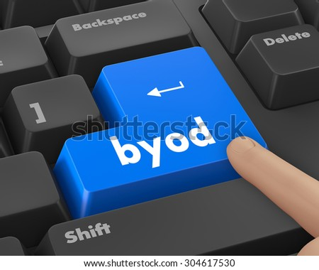 Byod keyboard key of a notebook computer, raster