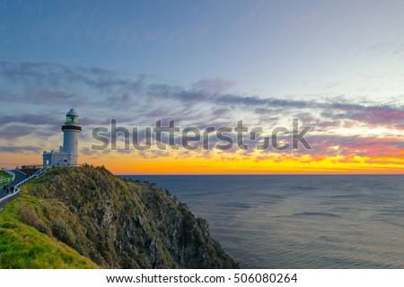 Byron Bay Lighthouse at dawn - Landscape