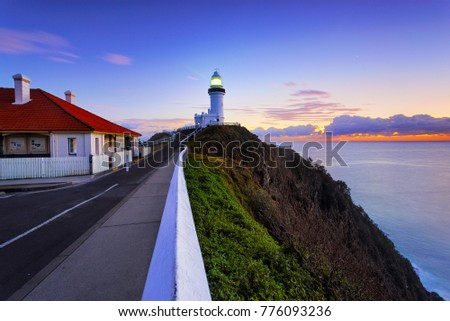 byron bay lighthouse sunrise.