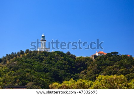 Byron Bay Lighthouse Viewed From Park Entrance
