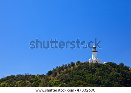 Byron Bay Lighthouse Viewed From Park Entrance in New South Wales, AU