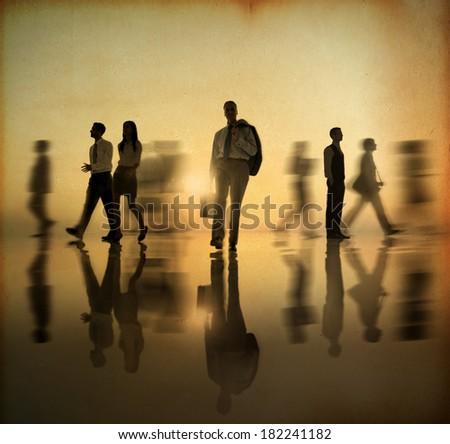 bysy business people walking at ...