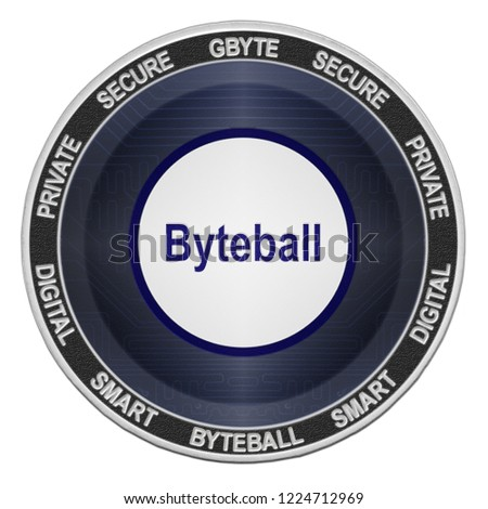 Byteball Bytes (GBYTE) coin isolated on white background; byteball cryptocurrency