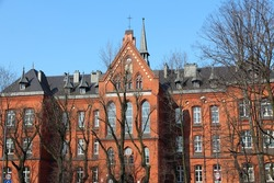 Bytom, Silesia region in Poland. Old beautiful architecture - college building.
