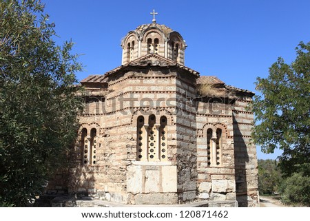 Byzantine Church the Holy Apostles at the Ancient Agora of Athens, Greece