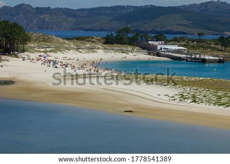 Cíes island National Park, Vigo, Playa de rodas. Stock fotó ©
