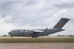 C-17 Globemaster III about to take off