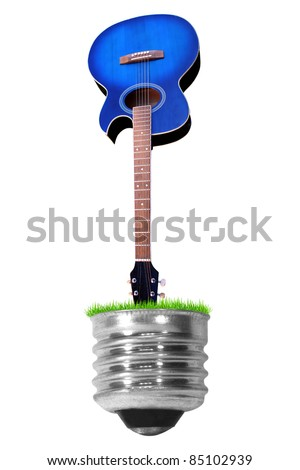 c light guitar isolated on a white background