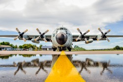 C-130 military transport aircraft of the most beautiful views.
