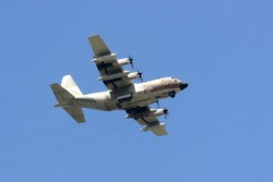 C-130 military transport plane