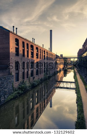 C&O Canal, Georgetown, Washington DC - stock photo