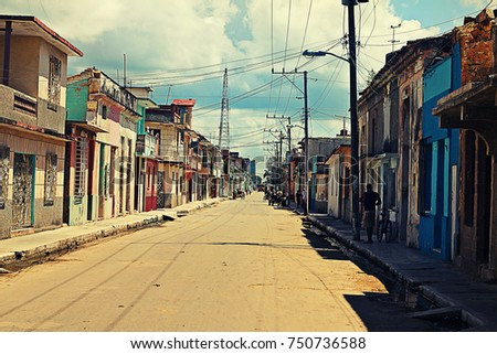 c rdenas street with colored...