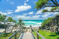 Cabarita Beach in Northern New South Wales (NSW) on a day with blue water