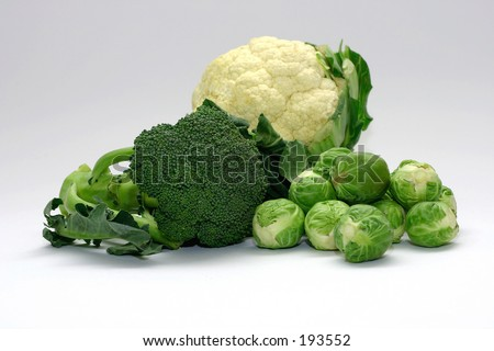 Cabbage Family - cauliflower, broccoli and brussel sprouts