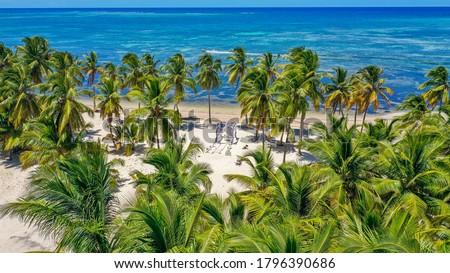 Cabeza de Toro beach, Punta Cana, Dominican Republic. A place for a beautiful wedding Foto stock ©