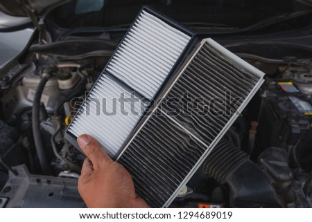 Cabin Air Filter Car Compare between already used and unused,Replacing cabin air conditioner filter of car