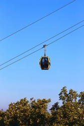 cabin of girnar ropeway. this is longest ropeway of asia located in gujarat.