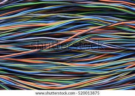 Cable and Wire Internet Access Closeup