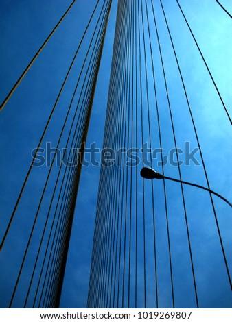 Cable Bridge and electric pole #1019269807