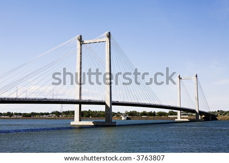 Cable Bridge between Pasco and Kennewick in Eastern Washington State