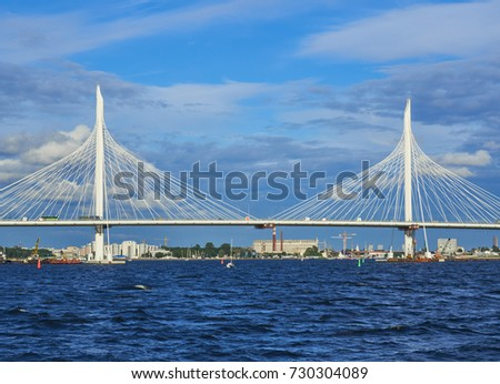 Cable bridge through western high-speed diameter #730304089