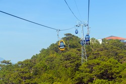Cable Car at Robin Hill, Truc Lam Dalat, Vietnam