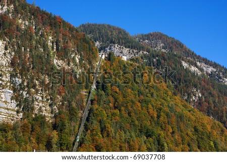 Cable car in Hallstatt, Austria