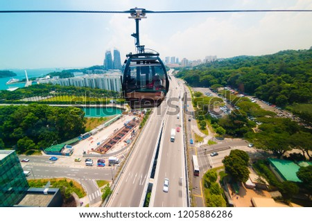cable car in Singapore #1205886286