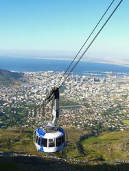 Cable car to Table mountain in Cape Town
