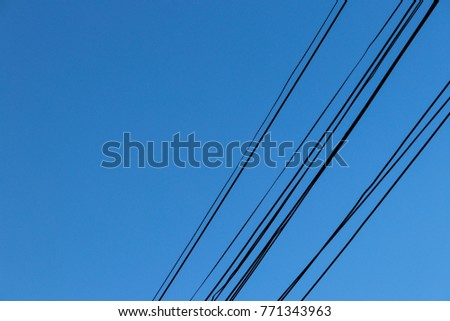 Cable in blue sky Background #771343963