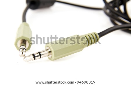 cable on a white background