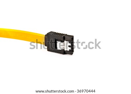 cable plug audio video equipment on a white background of the high resolution isolated object
