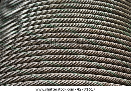 Cable Steel Line Curve - stock photo
