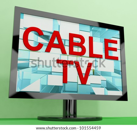 Cable Tv Showing Digital Media Television Entertainment