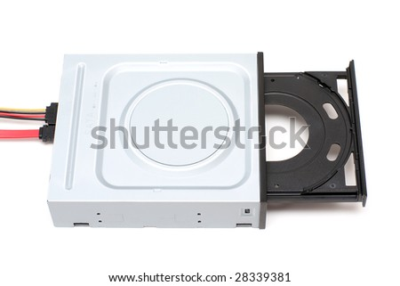 Cables connected to DVD-ROM drive