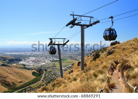 Cableway in Christchurch, New Zealand