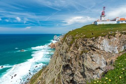 Cabo de Roca - Viewpoint at the coast of Portugal