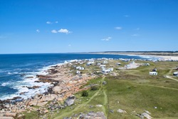 Cabo Polonio and the Atlantic Ocean, view from the lighthouse; Traveling Uruguay, South America