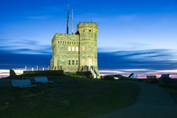 Cabot Tower on Signal Hill in St John's, Newfoundland. St. John's, Newfoundland and Labrador, Canada.