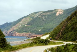 Cabot Trail in Cape Breton Highlands National Park, Nova Scotia