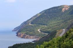 Cabot Trail in Cape Breton Island, Nova Scotia