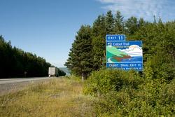 Cabot Trail Road Sign - Nova Scotia - Canada