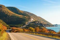 Cabot Trail scenic view (Cabot Trail, Cape Breton, Nova Scotia, Canada)