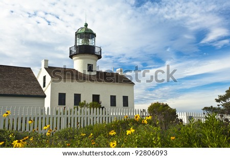 Cabrillo National Monument's Historic Light House located in Sunny San Diego, California