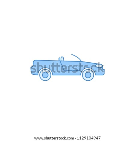 cabriolet car filled outline icon. Element of transport icon for mobile concept and web apps. Thin line cabriolet car filled outline icon can be used for web and mobile on white background