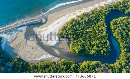 Cabuyal beach in Costa Rica #793686871