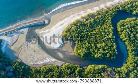 Cabuyal beach in Costa Rica #793686871