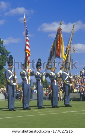 Cadets At Football Game, West Point Military Academy, West Point, New York