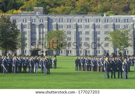 Cadets in Formation, West Point Military Academy, West Point, New York